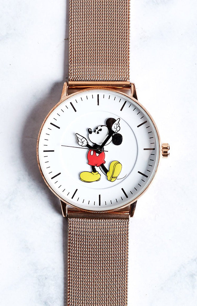 Disney Original Formal Rose Gold Mesh Watch