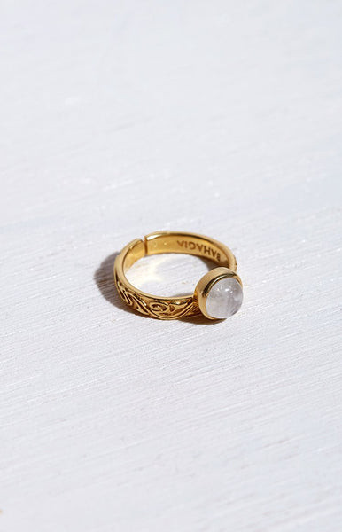 Bahagia Balimoon Ring Gold Plated