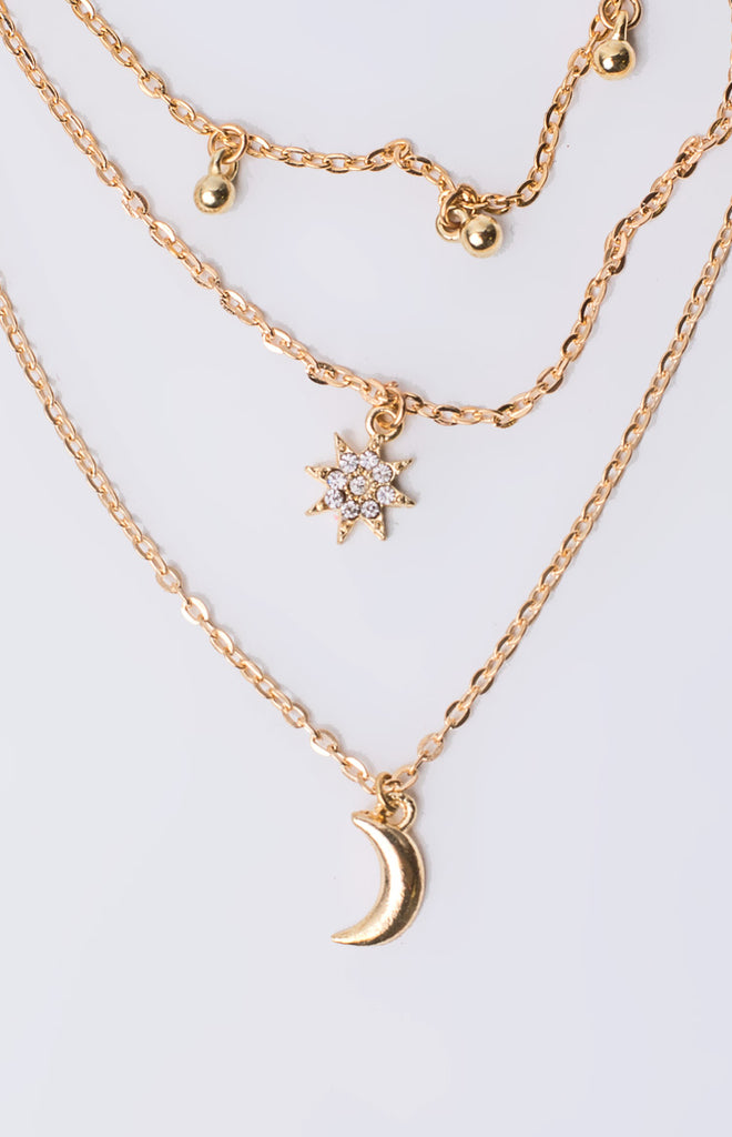 Eclat Over The Moon Layered Necklace Gold