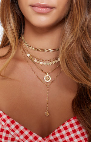Eclat Cryptic Necklace Set Gold