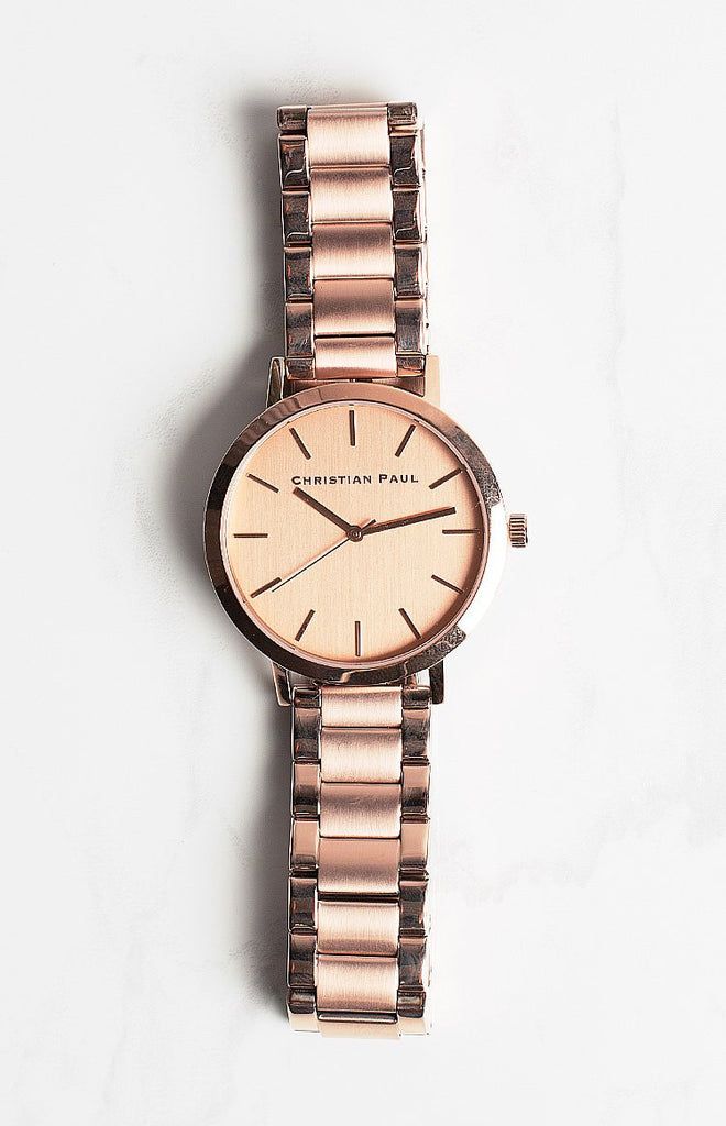 Christian Paul 43mm Capital Bracelet Collection Perth Watch Rose Gold