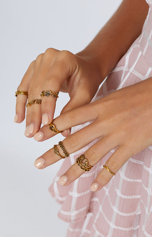 Cali Dreaming Ring Set Gold