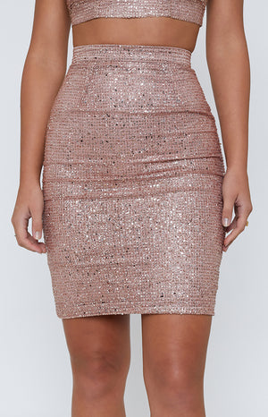 Sanur Skirt Rose Gold Glitter