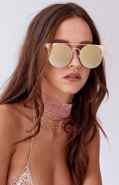Quay The In Crowd Sunglasses Gold