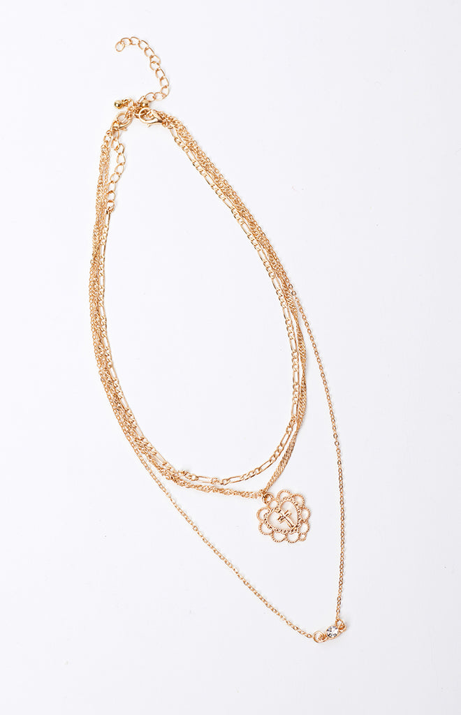 Eclat Faithful Layered Necklace Gold