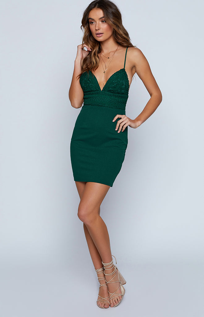 Decadence Dress Forest Green