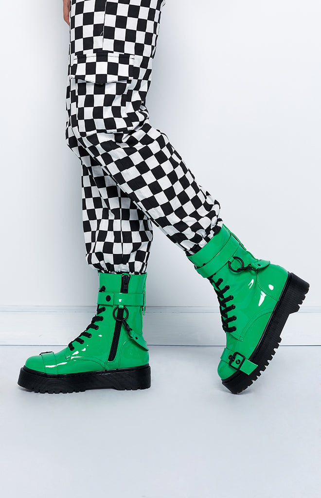 Current Mood Toxic Slime Combat Boot