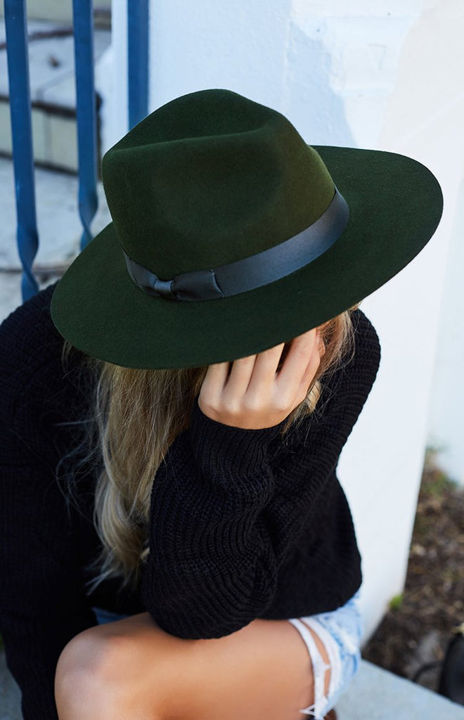 Lack Of Color The Silent Woods Fedora Olive Green