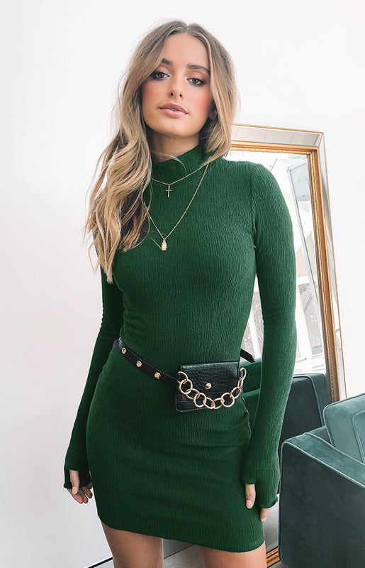 Nobu Dress Forest Green