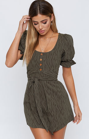 Lust For Life Dress Khaki