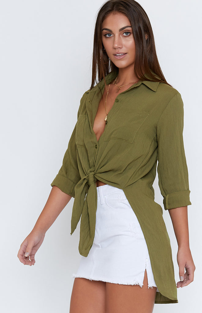 Bastille Long Sleeve Shirt Khaki