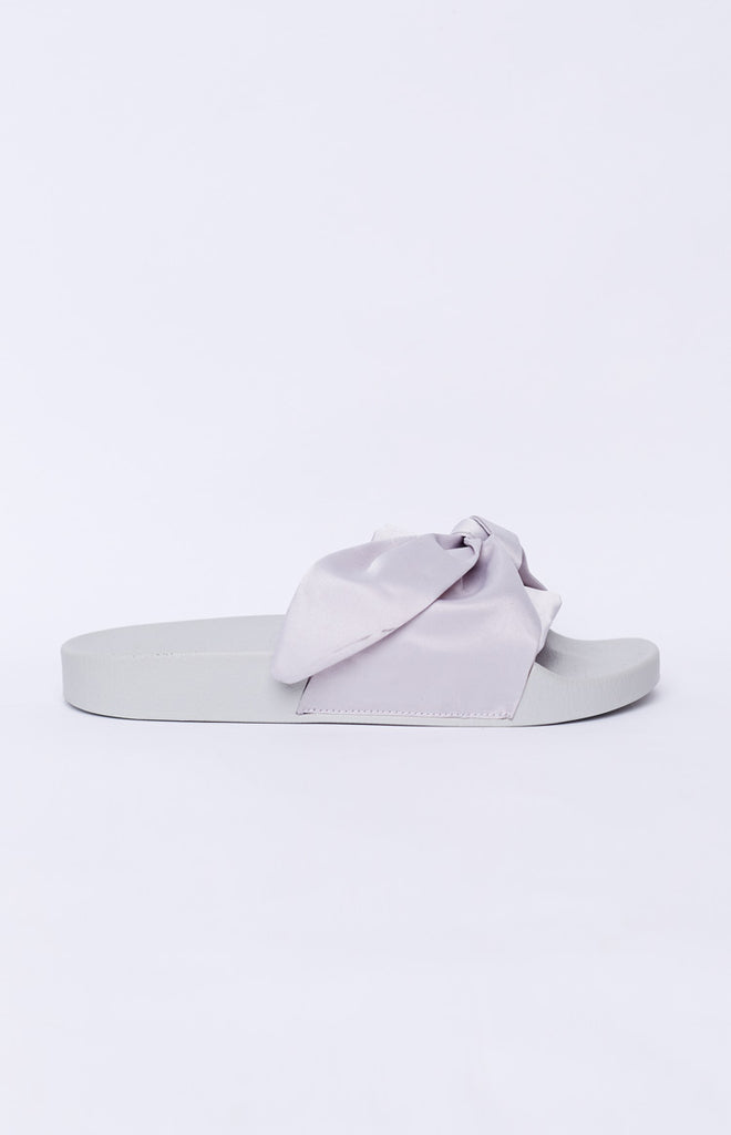 Tony Bianco Verona Slides Silver Luxe