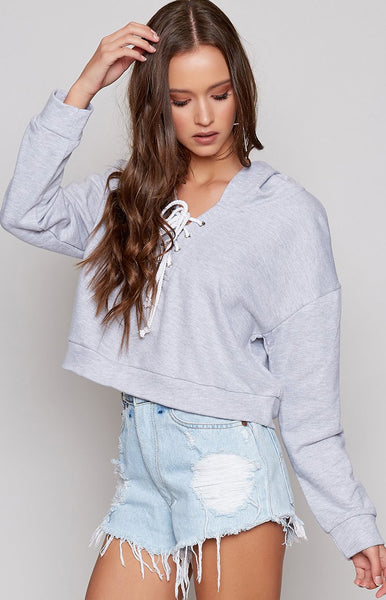 Serendipity Hooded Jumper Grey
