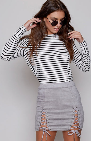 B x Runaway Bromley Mini Skirt Dove