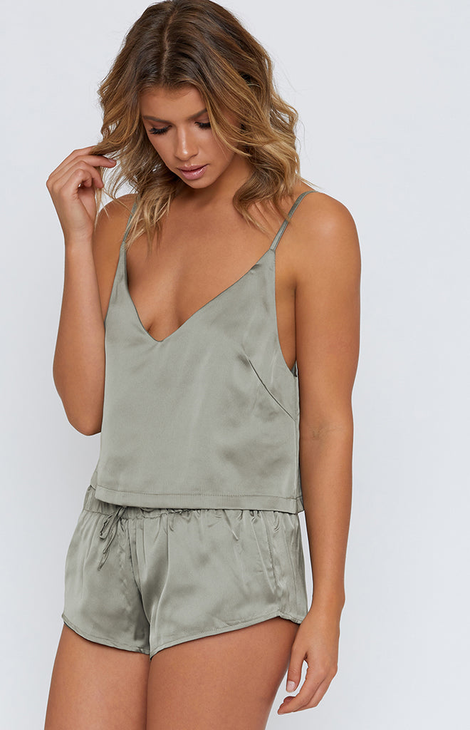 Belle Sleep Crop Sage