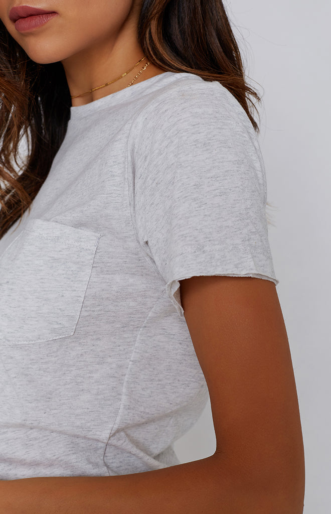 Nude Lucy Ellipse Tee Light Grey Marle