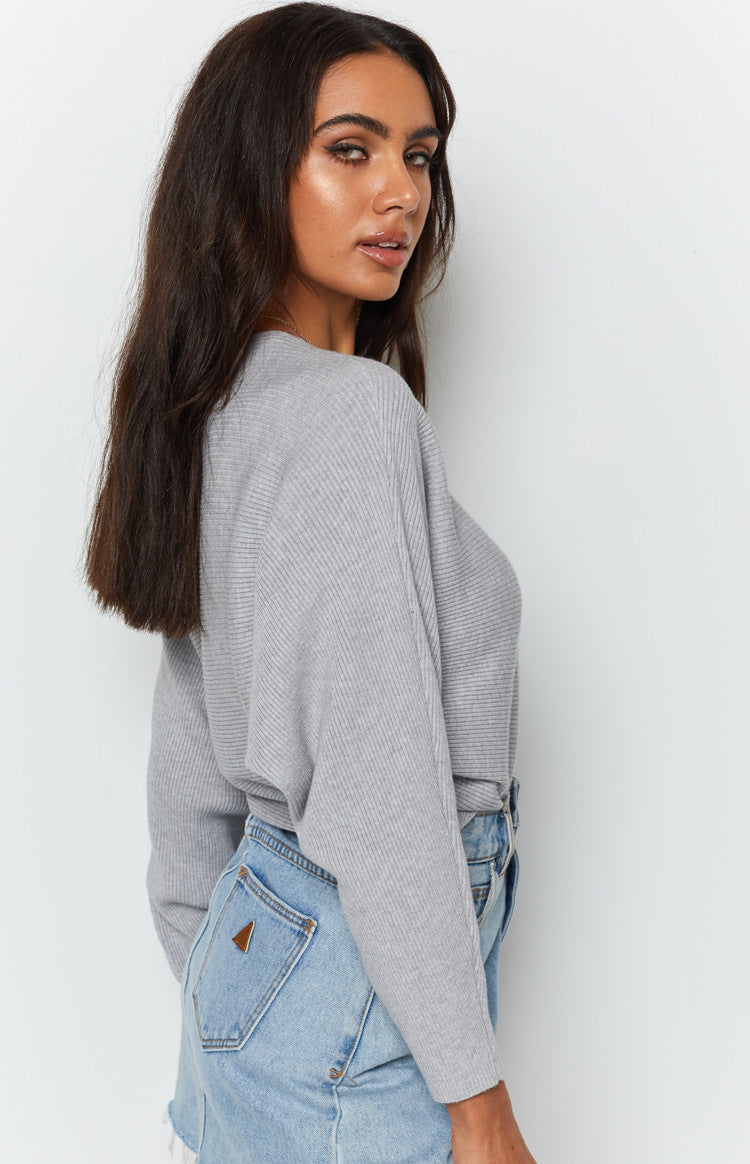 Alyce Off Shoulder Knit Grey