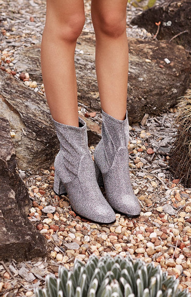 Therapy Hoxton Boot Sparkle Silver