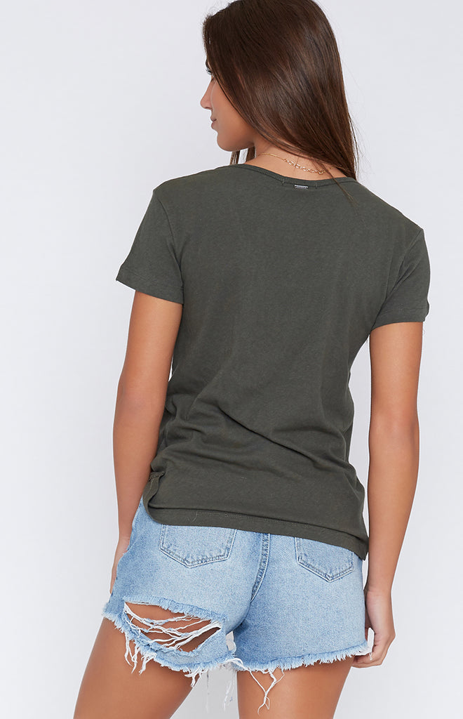 Rusty Bare Scoop Neck Tee Rifle Green