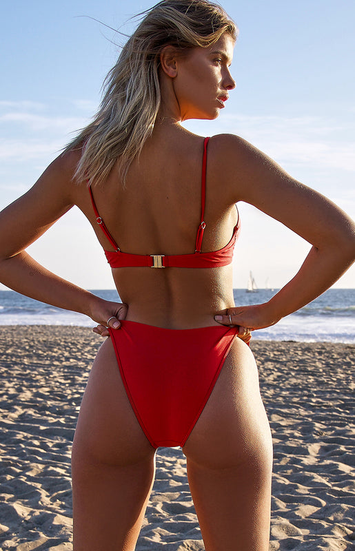 9.0 Swim Byron Bikini Bottoms Metallic Red