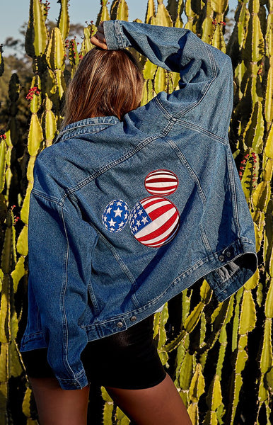 Vintage American Mickey Embroidered Denim Jacket
