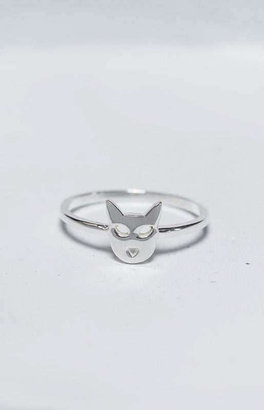 Karen Walker Cat Ring Silver