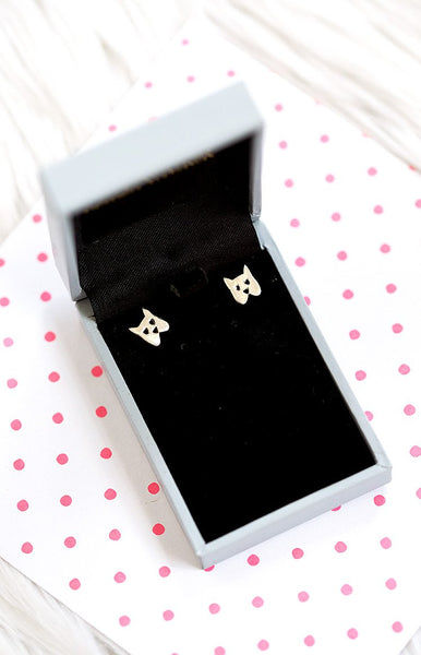 Karen Walker Mini Dog Studs Silver