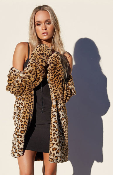 I.AM.GIA Stefani Coat Leopard
