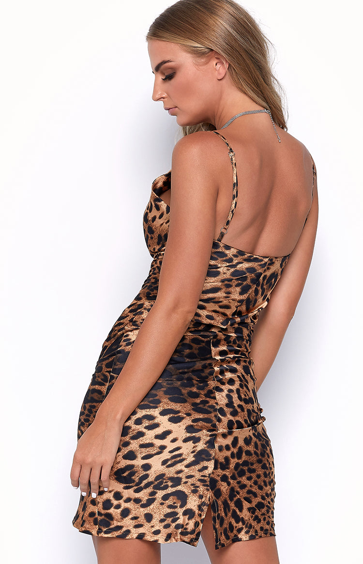 Saunter Slip Dress Leopard