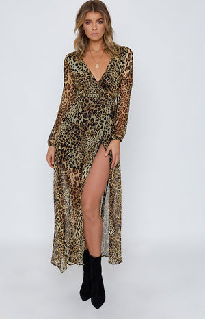 Cleopatra Maxi Dress Leopard