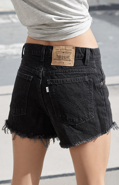 Vintage Levi Denim Shorts Black