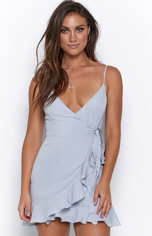 Crystal Carriage Dress Pale Blue