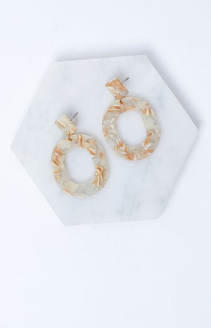 Eclat Marble Daze Earrings Brown