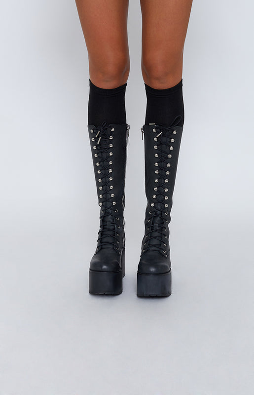 Milly Knee High Socks Black