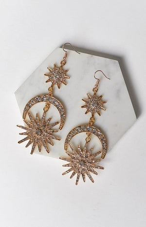 Eclat Pandaro Earrings Gold