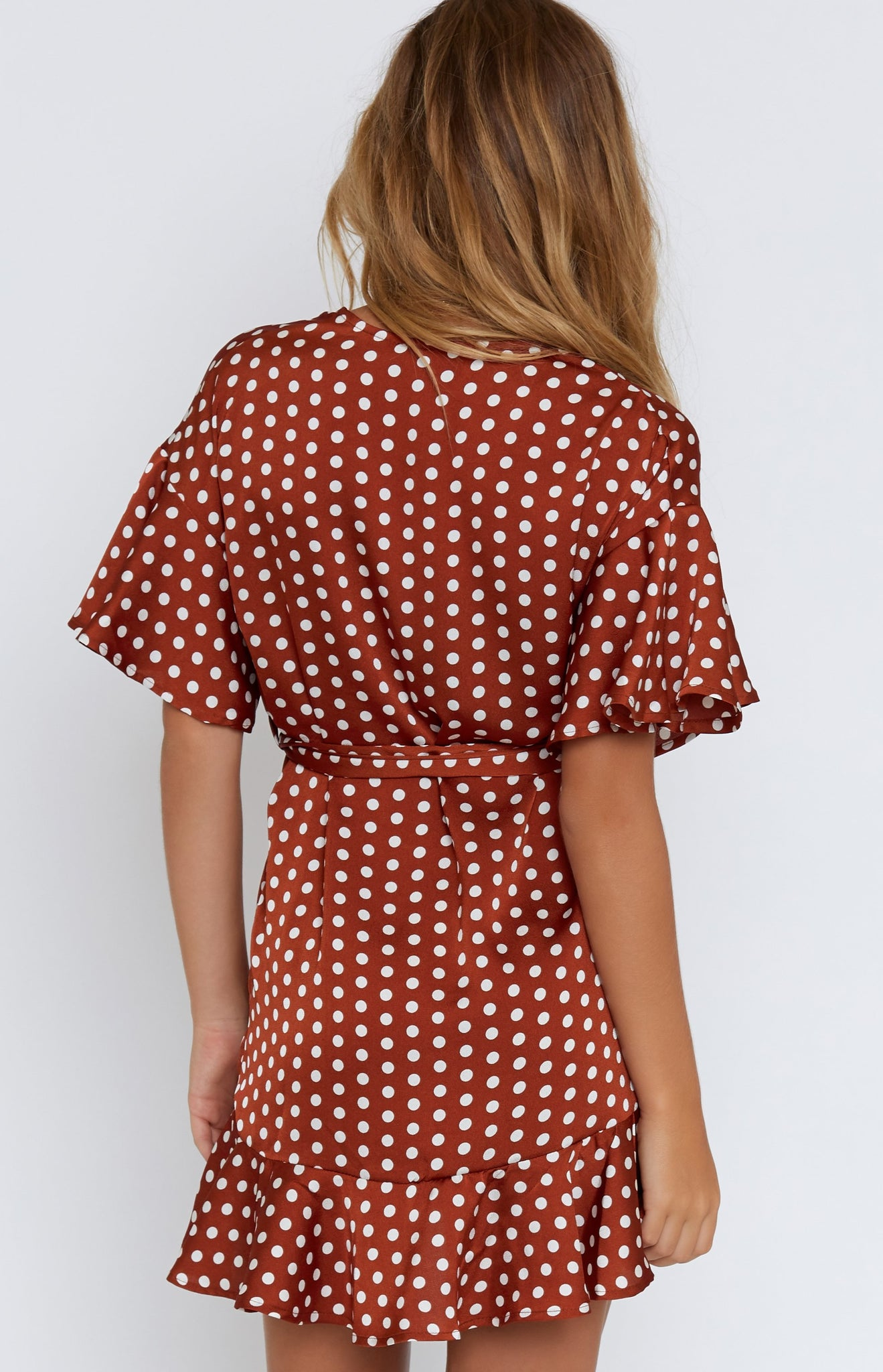 Steffie Wrap Dress Polka