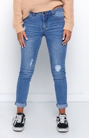 New Heart Jeans Stone Wash