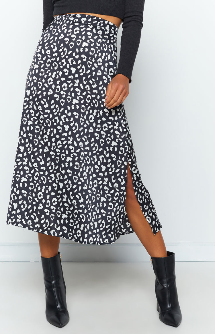 Mikari Skirt Black Leopard