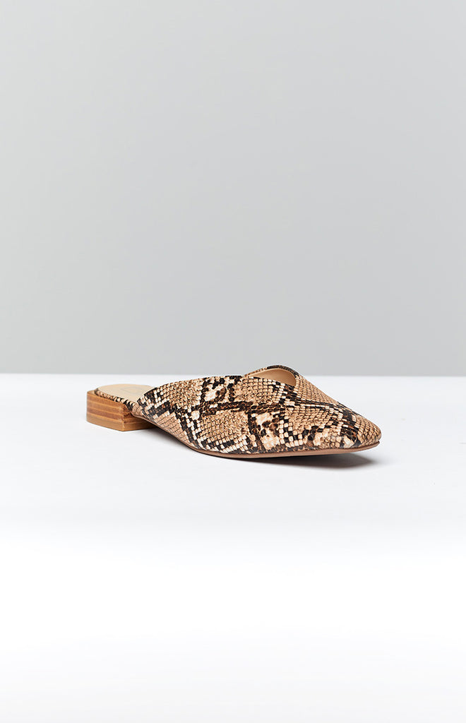 Therapy Mila Flats Taupe Snake 1
