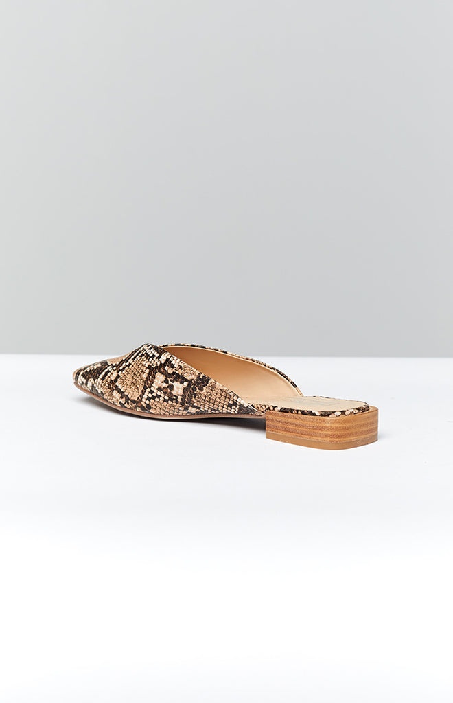 Therapy Mila Flats Taupe Snake 2
