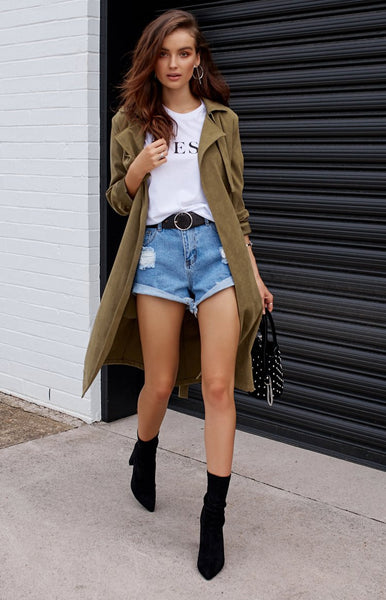 Windsor Trench Coat Khaki