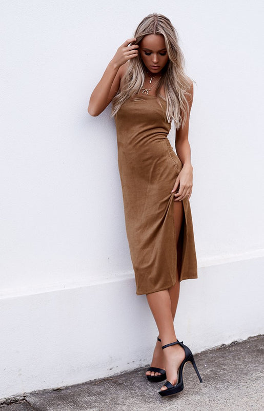 AndCo Cliffside Midi Dress Camel