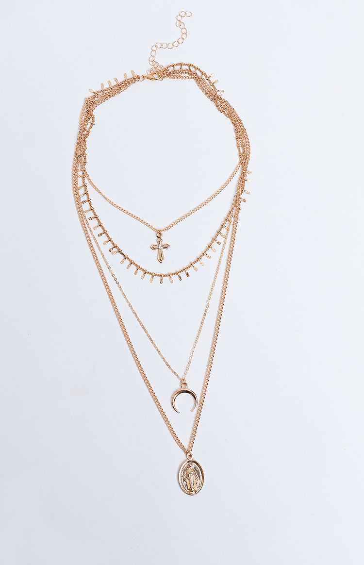 Eclat Treasure Trove Layered Necklace Gold