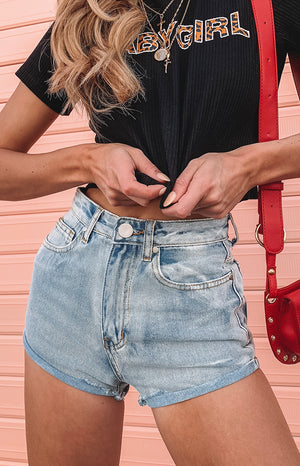 Cyrus Denim Shorts Blue