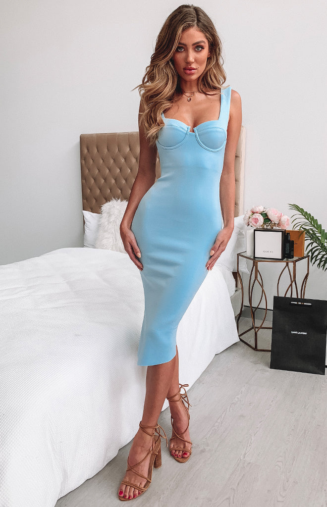 Chloe Dress Baby Blue