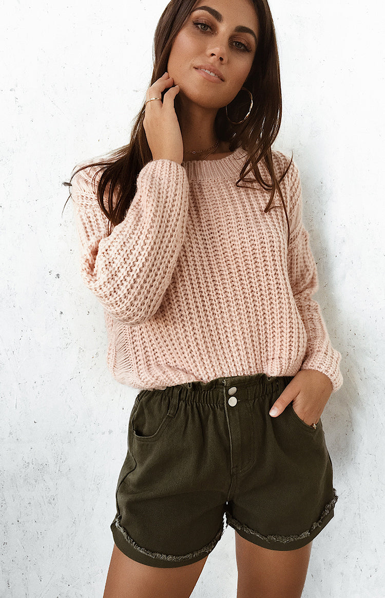 Wyoming Cable Knit Jumper Pink