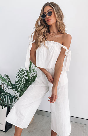 Darcie Jumpsuit White