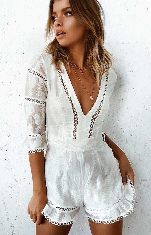 Esperance White Playsuit