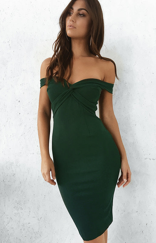 Knot Your Love Dress Emerald