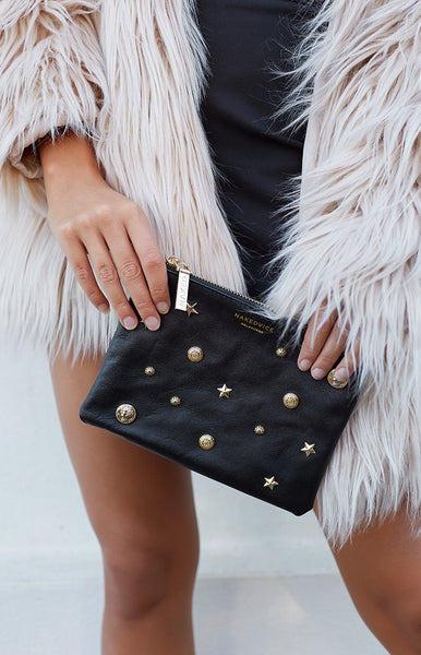 NakedVice The Base Coin Clutch Black